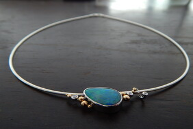 Opal Doublet necklace 354
